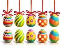 Colored Easter Eggs illustration Stock Image