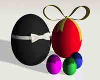 Colored easter eggs family Royalty Free Stock Photos