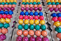 Colored Easter Eggs. Freshly colored stock photos
