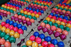 Colored Easter Eggs. Freshly colored royalty free stock photography