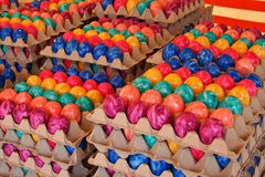 Colored Easter Eggs. Freshly colored stock image