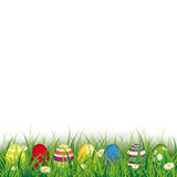 Colored Easter Eggs Grass Sale Royalty Free Stock Photography