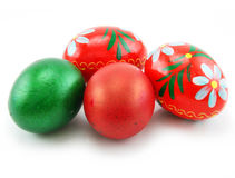 Colored Easter Eggs Isolated on White. Background Stock Image