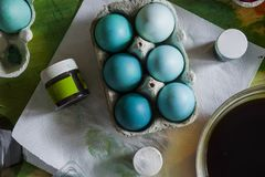 Colored Easter eggs set Royalty Free Stock Photos