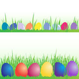 Colored Easter eggs, vector set Royalty Free Stock Photos