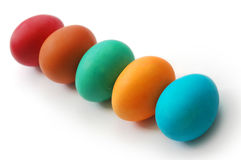 Colored easter eggs on a white background Royalty Free Stock Image