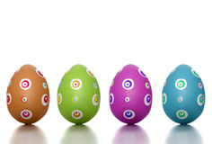 Colored Easter time royalty free stock photography