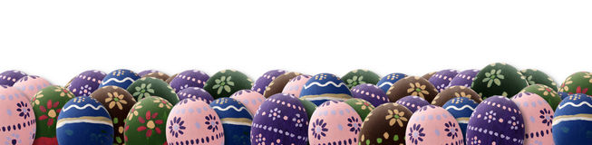Colored Easter time. A great Easter Eggs banner for Easter theme Stock Photo