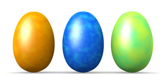 Colored  Eastereggs Royalty Free Stock Photo