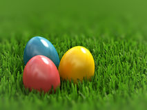 Colored eggs Stock Images