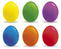 Colored eggs. A group of brightly colored eggs Stock Image