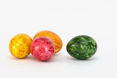 Colored Eggs. On white background royalty free stock image