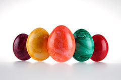 Colored eggs Stock Photos