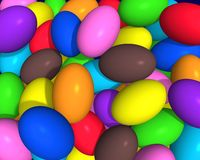 Colored eggs. Illustration 3d of little eggs in various colors Stock Images
