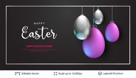 Easter background template. Royalty Free Stock Images