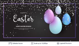 Easter background template. Stock Image