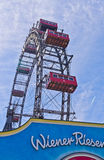 Viennese giant wheel in Prater amusement park at V Royalty Free Stock Photography