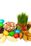 Colored eggs traditional sweets Royalty Free Stock Image