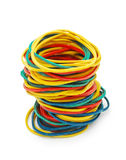 Colored elastic bands Stock Images