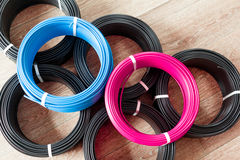 Colored electric cable Royalty Free Stock Photo