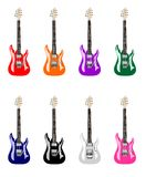 Colored Electric Guitars Stock Images