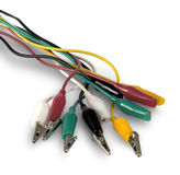 Colored electric wires Stock Images