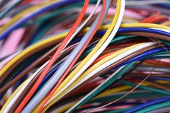 Colored electrical cable Stock Images