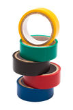 Colored electrical tape Royalty Free Stock Photos