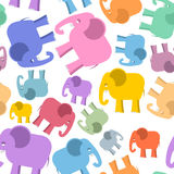Colored elephant seamless pattern. Cute animals background. Royalty Free Stock Images