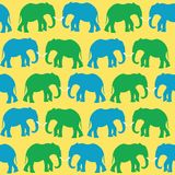 Colored elephants Royalty Free Stock Image
