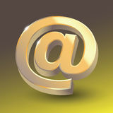 Colored email icon sign. Stock Photo