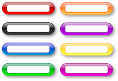 Colored empty badges set Royalty Free Stock Images