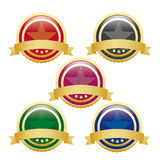 5 Colored Empty Buttons. On the white background. Eps 10  file Royalty Free Stock Photo