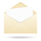 colored envelope with empty paper royalty free stock photo