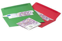Colored envelope with Euros Royalty Free Stock Photography