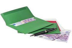 Colored envelope with Euros Stock Photography