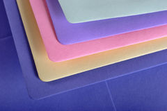 Colored envelopes Royalty Free Stock Photo