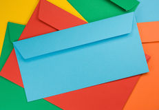 Colored envelopes Stock Photography