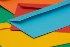 Colored envelopes Stock Images