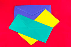 Colored envelopes Royalty Free Stock Photography