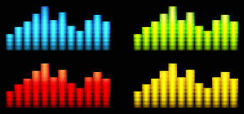 Colored equalizer Royalty Free Stock Image