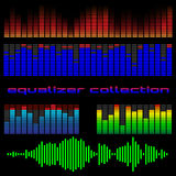 Colored equalizers Royalty Free Stock Image