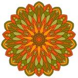 Colored ethnic ancient ornament mandala isolated on white Stock Image