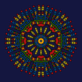 Colored ethnic mexican mandala Royalty Free Stock Photography