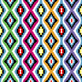 Colored ethnic texture. With geometric shapes royalty free illustration