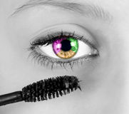 Colored eye Stock Images