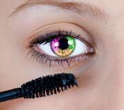 Colored eye Royalty Free Stock Photo