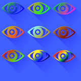 Colored Eye Icon Royalty Free Stock Photo