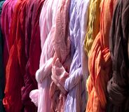 Colored fabric Stock Images