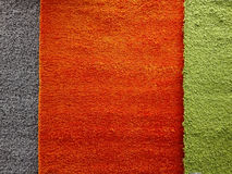 Colored fabric for carpets Stock Image